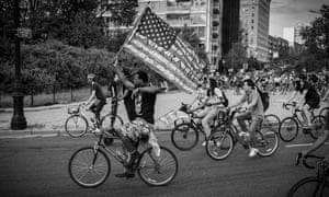 Street Riders, a Brooklyn-based crew, ride a protest route in New York.