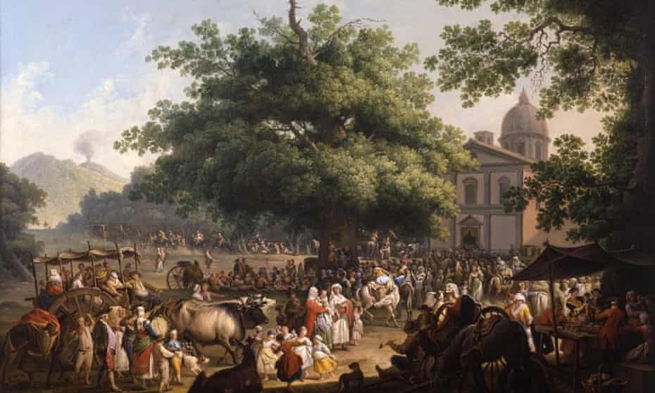 The Festival of the Madonna dell'Arco, 1777, (H102.6 x W153.7 cm), oil on canvas, by Pietro Fabris