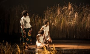 Sarah Niles (Lolo), Racheal Ofori (Udo) and Natalie Simpson (Nne Chukwu) in Three Sisters at the National.