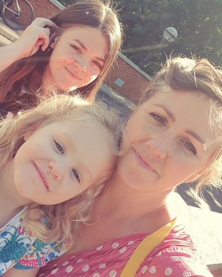 Maggie Bennion with daughters Grace and Imogen.