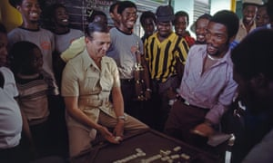 Edward Seaga playing dominoes in Kingston, 1984.