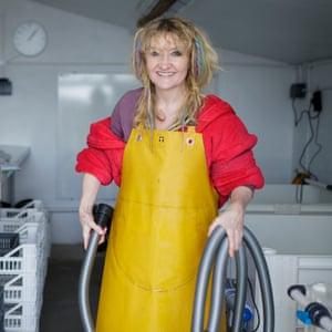 Tess Nixon at Porlock Bay Oysters.
