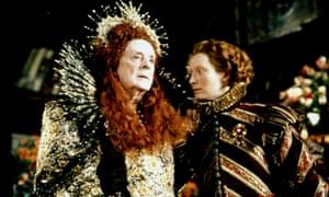 Queen Elizabeth I (Quentin Crisp) and Orlando (Tilda Swinton) in the 1992 film of Virginia Woolf's novel Orlando.
