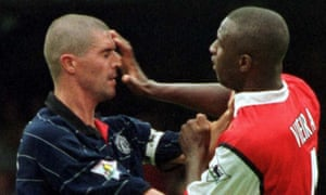 Manchester United's Roy Keane, left, and Patrick Vieira, right, could have been sent off under the new laws for their altercation in the tunnel at Highbury in 2005.
