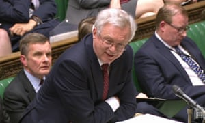 Brexit secretary David Davis in the Commons on Monday.