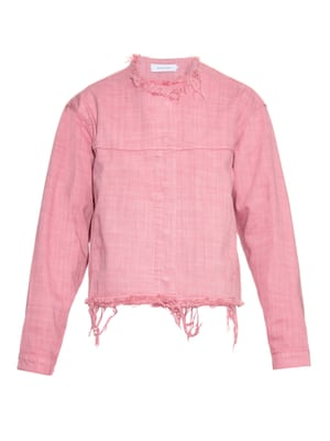 pink denim jacket £385, Marques' Almeida