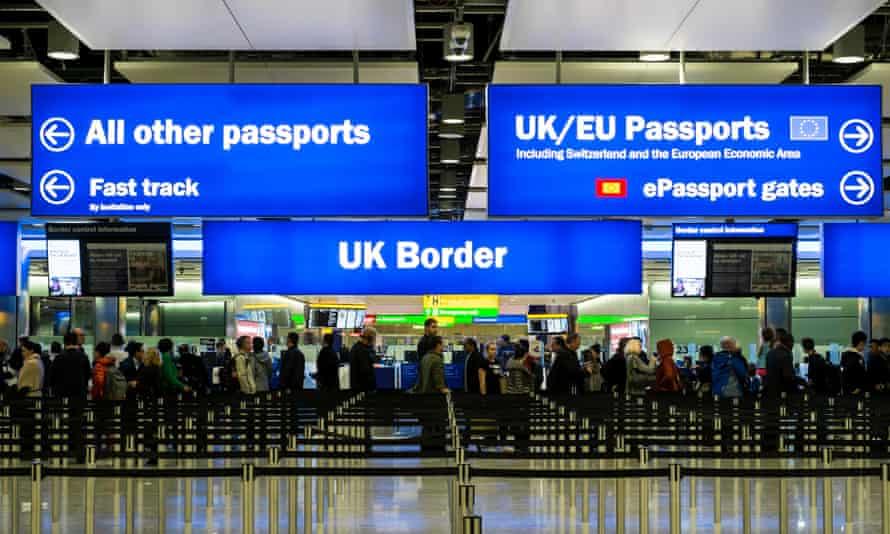 UK border at Heathrow