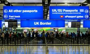 希思罗机场的移民和护照管制