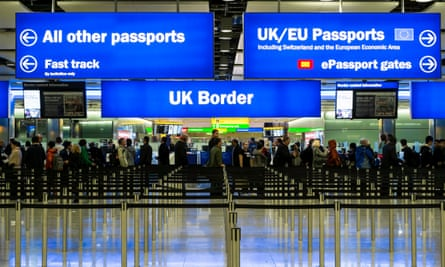 Passport control, Heathrow