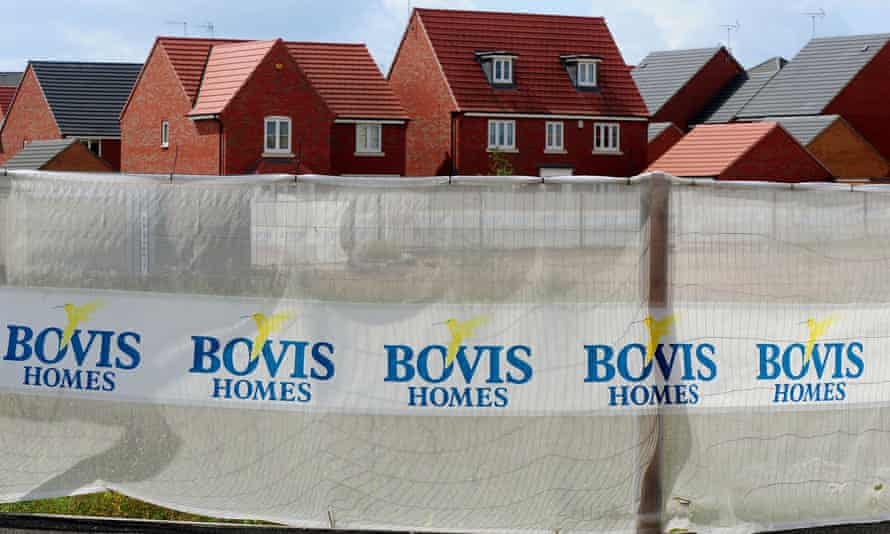 New houses built by Bovis homes