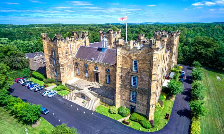 Aerial view of Lumley Castle, Chester le Street, Durham