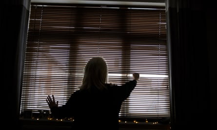 Silhouette of a woman whose partner subjected her to violent abuse but who has to face him in family court.