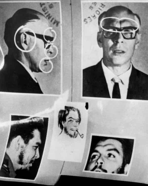 Che Guevara's disguise as Adolfo Mena González, which he used to enter Bolivia.