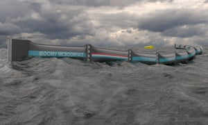 The 100m-long barrier will be towed 20km out to sea for a year of sensor-monitored tests.
