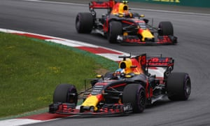 Red Bull team-mates Daniel Ricciardo and Max Verstappen.