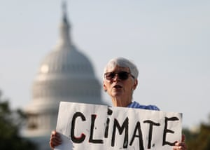 The US Capitol as backdrop to climate crisis protests