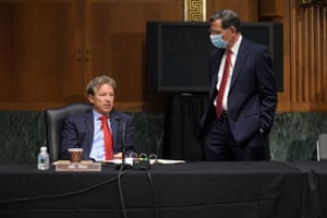 Senator Rand Paul and Senator John Barrasso attend a Senate Foreign Relations Committee hearing in Washington, DC, US, on 30 July, 2020.