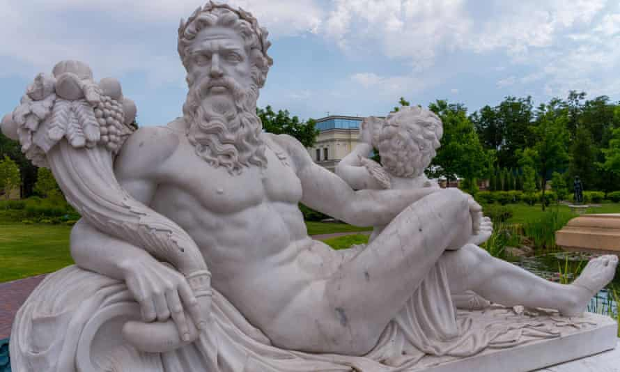 Statue of the god Zeus … the poems record his and other gods' relations with mortals and nymphs.