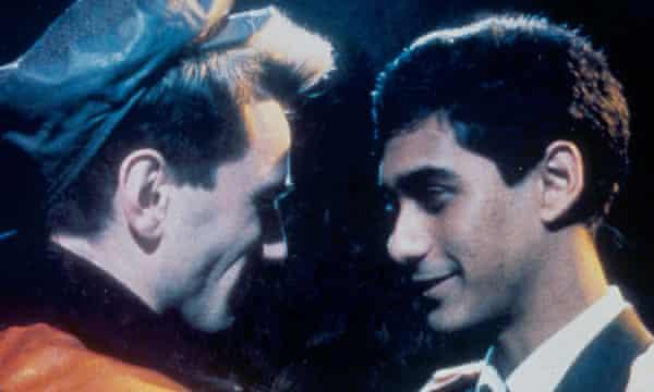 Daniel Day-Lewis, left, and Gordon Warnecke in My Beautitful Laundrette, 1985.