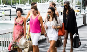 The cast of Real Housewives of Auckland in Port Douglas, Queensland.