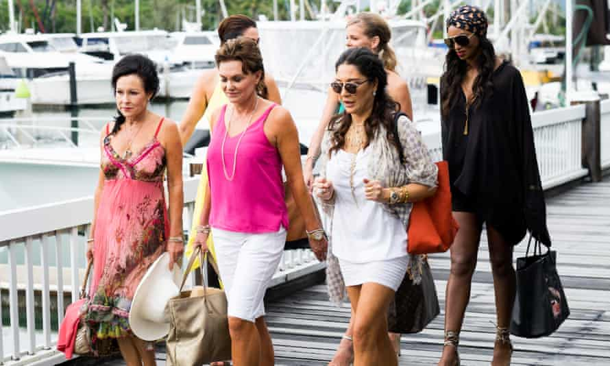 The cast of Real Housewives of Auckland in Port Douglas.