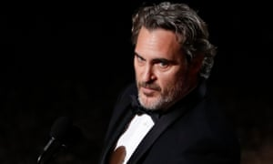 Joaquin Phoenix at the Oscars.