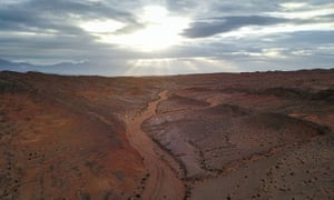 China's future Mars simulation base in Hongya (Red Cliff) region of Haixi Mongolian and Tibetan Autonomous Prefecture in north-west China.