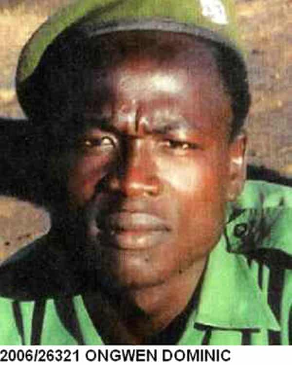 A picture of Dominic Ongwen taken from Interpol's website in January 2015.