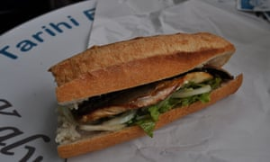 A fried fish sandwich, which according to local lore have been sold in Eminönü since the 1800s.