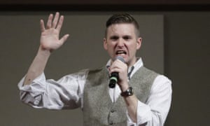 Richard Spencer speaks at the Texas A&M University campus in College Station, Texas in 2016.