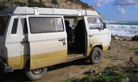 The camper van police are appealing for information about.