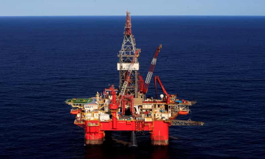 General view of an oil platform