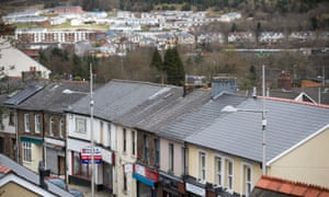 Ebbw Vale in Blaenau Gwent, Wales, where healthy life expectancy is 54.3 years, the lowest in Britain.