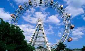 The Riesenbad (giant wheel) in Prater Park in Vienna, where the belching incident occurred.