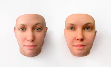 The 3-D-printed portraits from the series by Manning and Dewey-Hagborg.