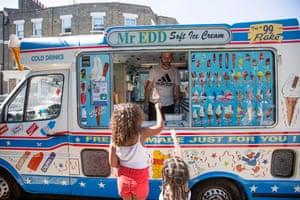 Child buying ice-cream