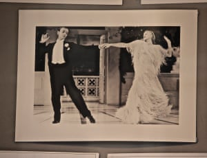 Charity danceA close-up of The Fred Astaire and Ginger Rogers dance photograph, appearing in a charity shop window - who could forget this duo? Photograph: PMK052/GuardianWitness