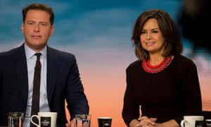 Karl Stefanovic and Lisa Wilkinson on the Today set in Sydney