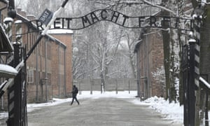 The entrance to Auschwitz in Poland