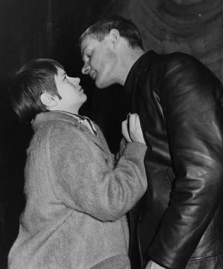 Rita Tushingham and Julian Glover during rehearsals for The Knack.