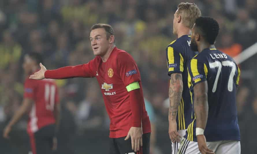 Wayne Rooney (left) has only started in the EFL Cup and Europa League for Manchester United since being dropped in September