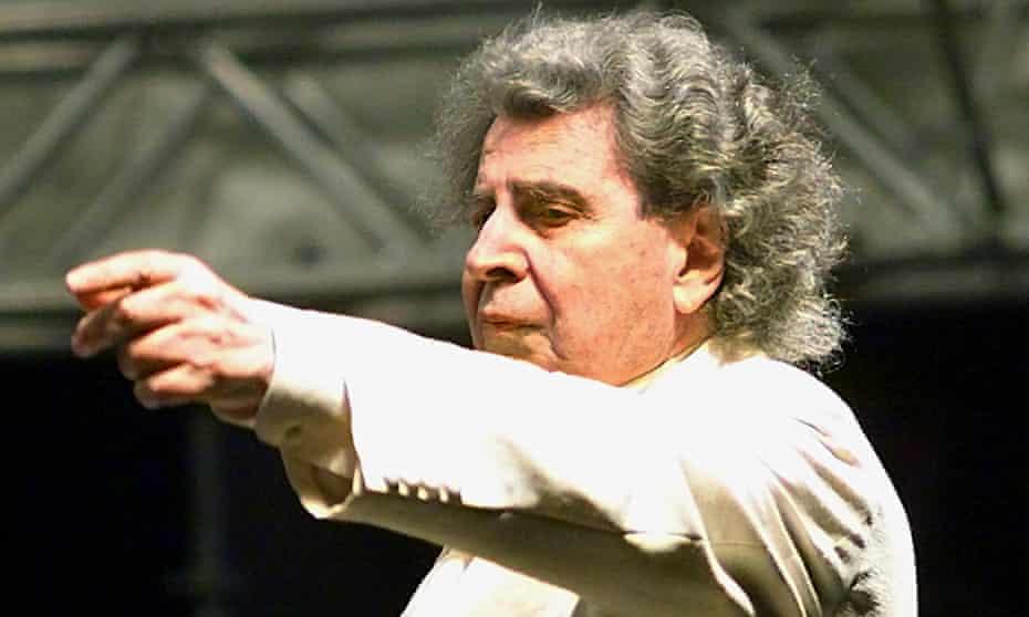 The Greek composer Mikis Theodorakis in 2000.