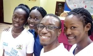 Betty from Uganda (far right)