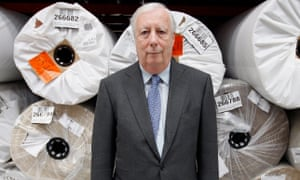 Lord Harris of Peckham, chairman and CEO of Carpetright, poses in his company's headquarters