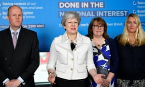 May speaking in Bristol ahead of the EU elections.