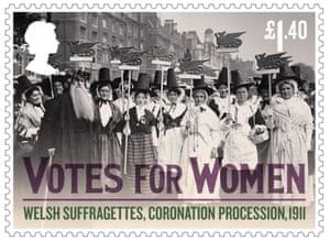 Welsh suffragettes, coronation procession, 1911