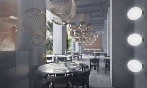 The Manzoni restaurant by Tom Dixon.