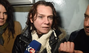 Asli Erdogan speaks after being released on probation. Erdogan is among journalists and intellectuals detained on charges of terror propaganda on account of her links to a pro-Kurdish newspaper.
