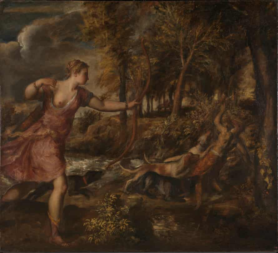 Titian's The Death of Actaeon (1559-75).