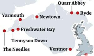 Isle of Wight map